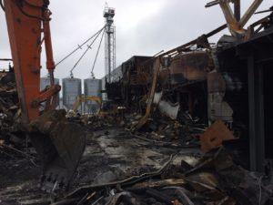démolition de la partie brûlée 2